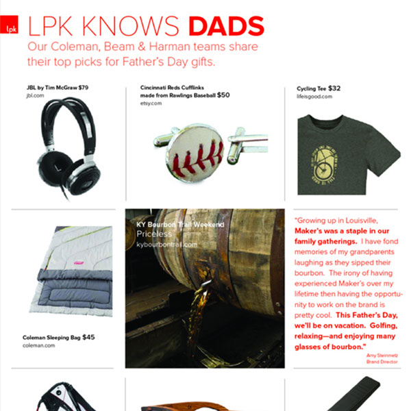LPK Celebrates Dads—Coleman, Beam and Harman Teams' Top Picks for Father's Day Gifts