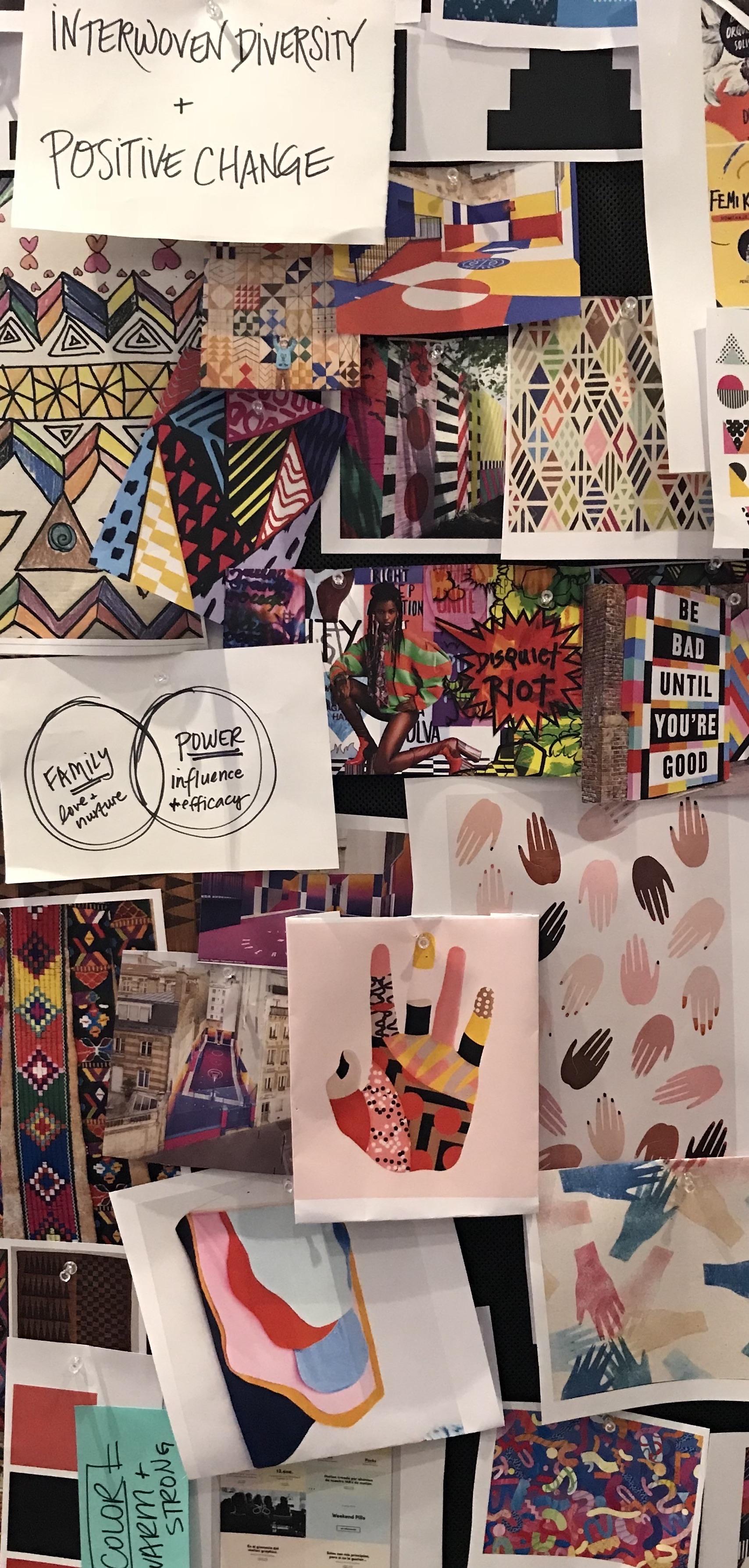 design mood board, concepting, inspiration