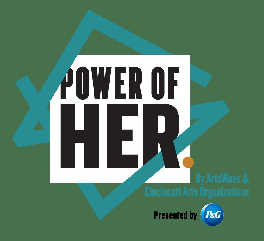 Identity developed for POWER OF HER. Arts branding, Celebrating women in the arts. Non profit branding.