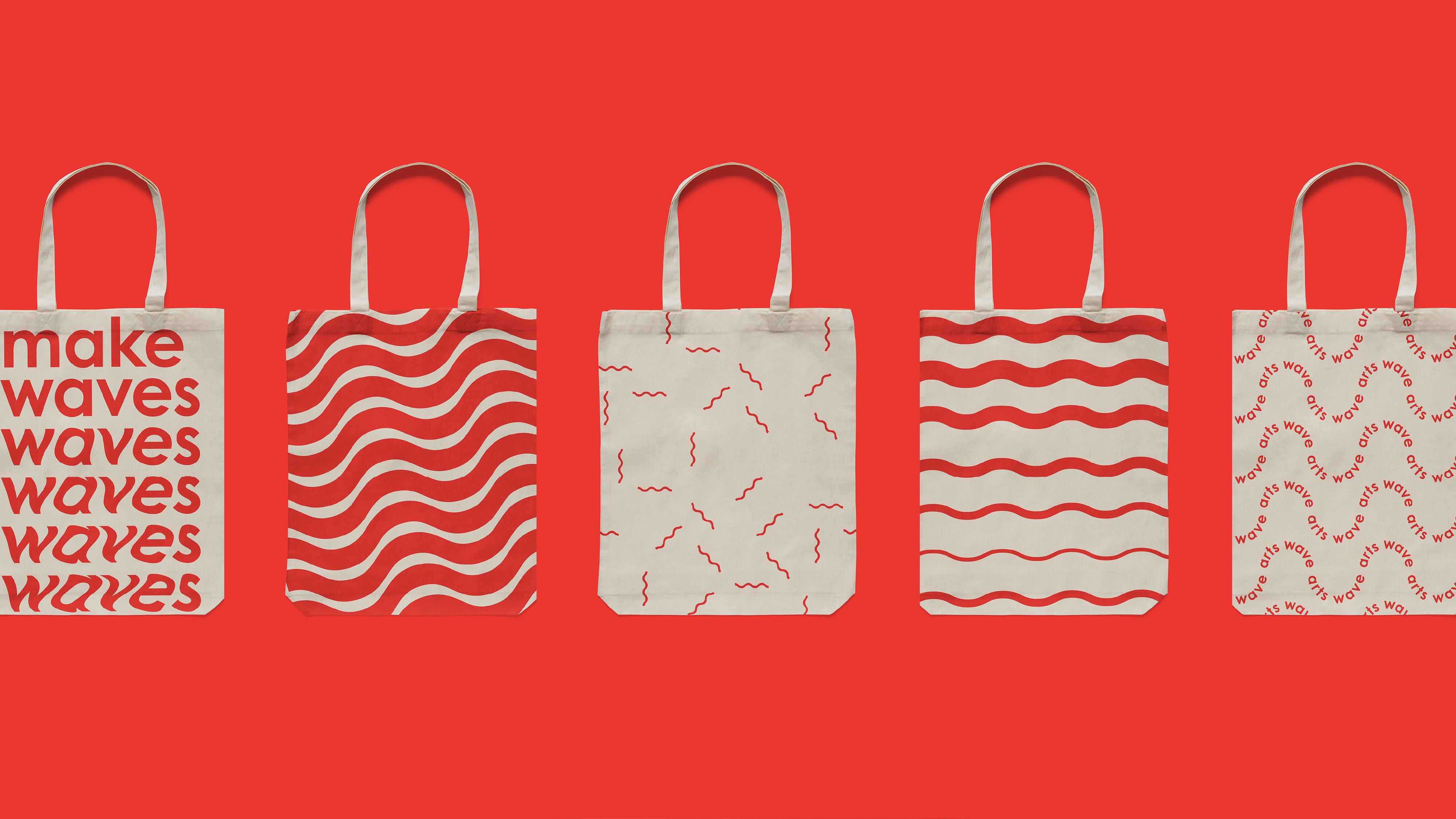 ArtsWave bags, non profit branding, arts branding, brand identity